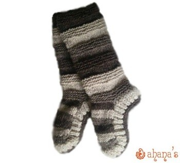 针织羊毛袜子