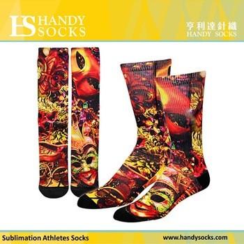 运动跑步袜热升华打印设计的袜子